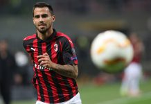 Suso during Milan-Olympiacos at Stadio San Siro on October 4, 2018. (Photo by Marco Luzzani/Getty Images)