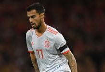 Suso during Wales-Spain at Millennium Stadium on October 11, 2018. (Photo by Stu Forster/Getty Images)