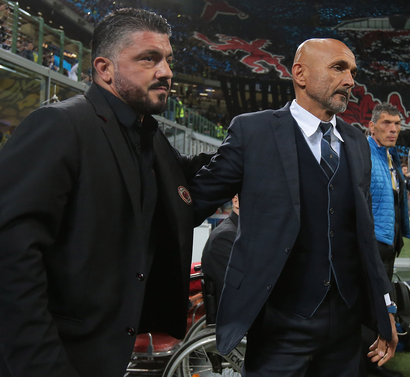 Gennaro Gattuso and Luciano Spalletti during Inter-Milan at Stadio San Siro on October 21, 2018. (Photo by Emilio Andreoli/Getty Images)