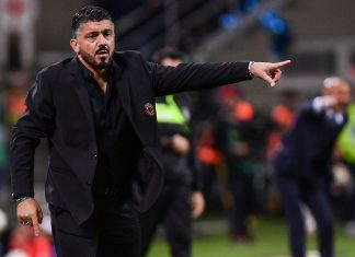 Gennaro Gattuso during Inter-Milan at Stadio San Siro on October 21, 2018. (MARCO BERTORELLO/AFP/Getty Images)