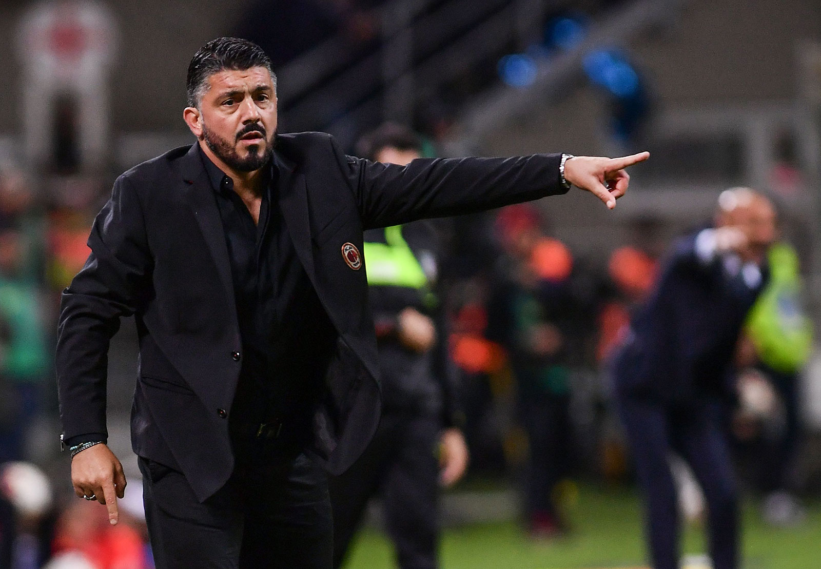 Gennaro Gattuso during Inter-Milan at Stadio San Siro on October 21, 2018. (MARCO BERTORELLO/AFP/Getty Images)