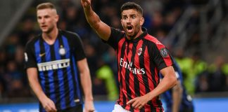 Mateo Musacchio during Inter-Milan at Stadio San Siro on October 21, 2018. (MARCO BERTORELLO/AFP/Getty Images)