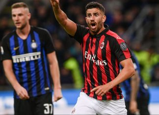 Mateo Musacchio during Inter-Milan at Stadio San Siro on October 21, 2018. (MARCO BERTORELLO/AFP/Getty Images)