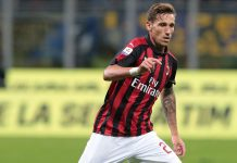 Lucas Biglia during Inter-Milan at Stadio San Siro on October 21, 2018. (Photo by Emilio Andreoli/Getty Images)