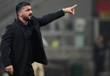 Gennaro Gattuso during Milan-Real Betis at Stadio San Siro on October 25, 2018. (MIGUEL MEDINA/AFP/Getty Images)