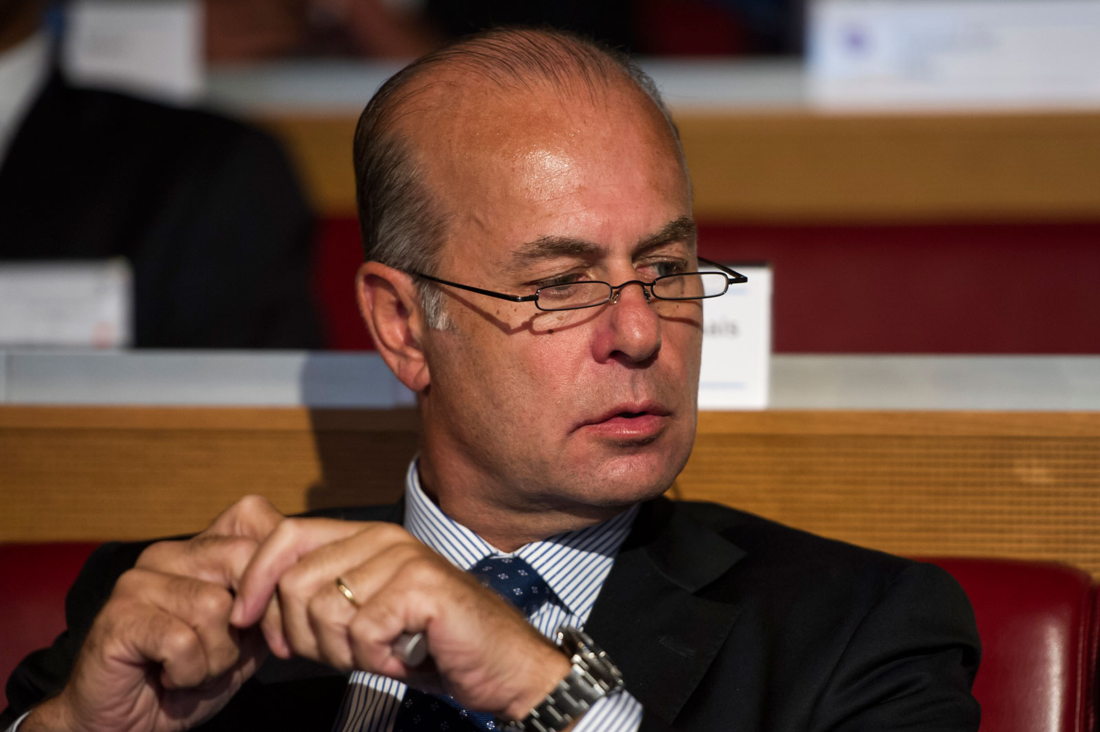 Umberto Gandini on during the UEFA Champions League 2013/14 play-off draw at UEFA headquarters on August 9, 2013 in Nyon, Switzerland. (Photo by Harold Cunningham/Getty Images)