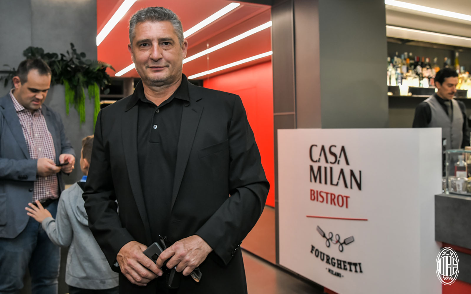 Daniele Massaro at Bistrot Fourghetti at Casa Milan on May 21, 2018. (@acmilan.com)