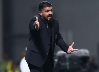 Gennaro Gattuso during Sassuolo-Milan at Mapei Stadium – Città del Tricolore on September 30, 2018. (@acmilan.com)
