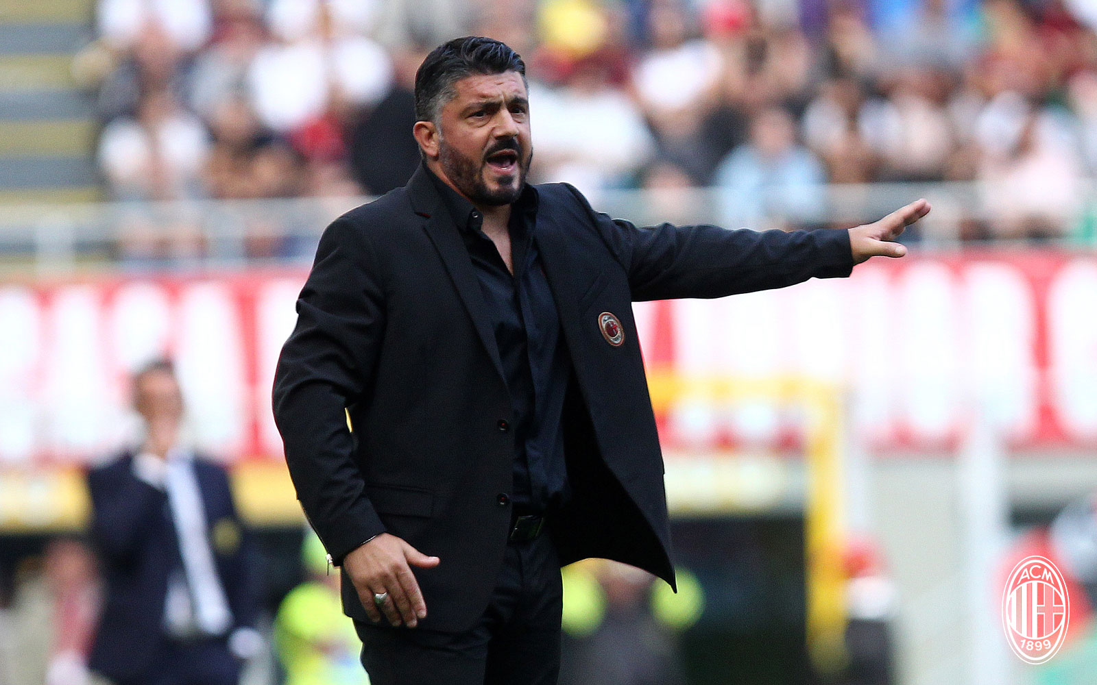 Gennaro Gattuso during Milan-Chievo at Stadio San Siro on October 7, 2018. (@acmilan.com)