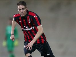 Andrea Conti during Milan Primavera-Chievo Primavera at Stadio Franco Ossola on November 2, 2018. (@acmilan.com)