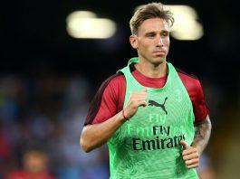 Lucas Biglia before Napoli-Milan at Stadio San Paolo on August 25, 2018. (@acmilan.com)