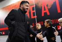 Gennaro Gattuso before Milan-Genoa at Stadio San Siro on October 31, 2018. (@acmilan.com)