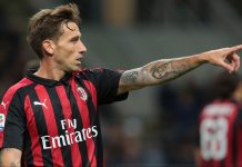 Lucas Biglia during Inter-Milan at Stadio San Siro on October 25, 2018. (Photo by Emilio Andreoli/Getty Images)