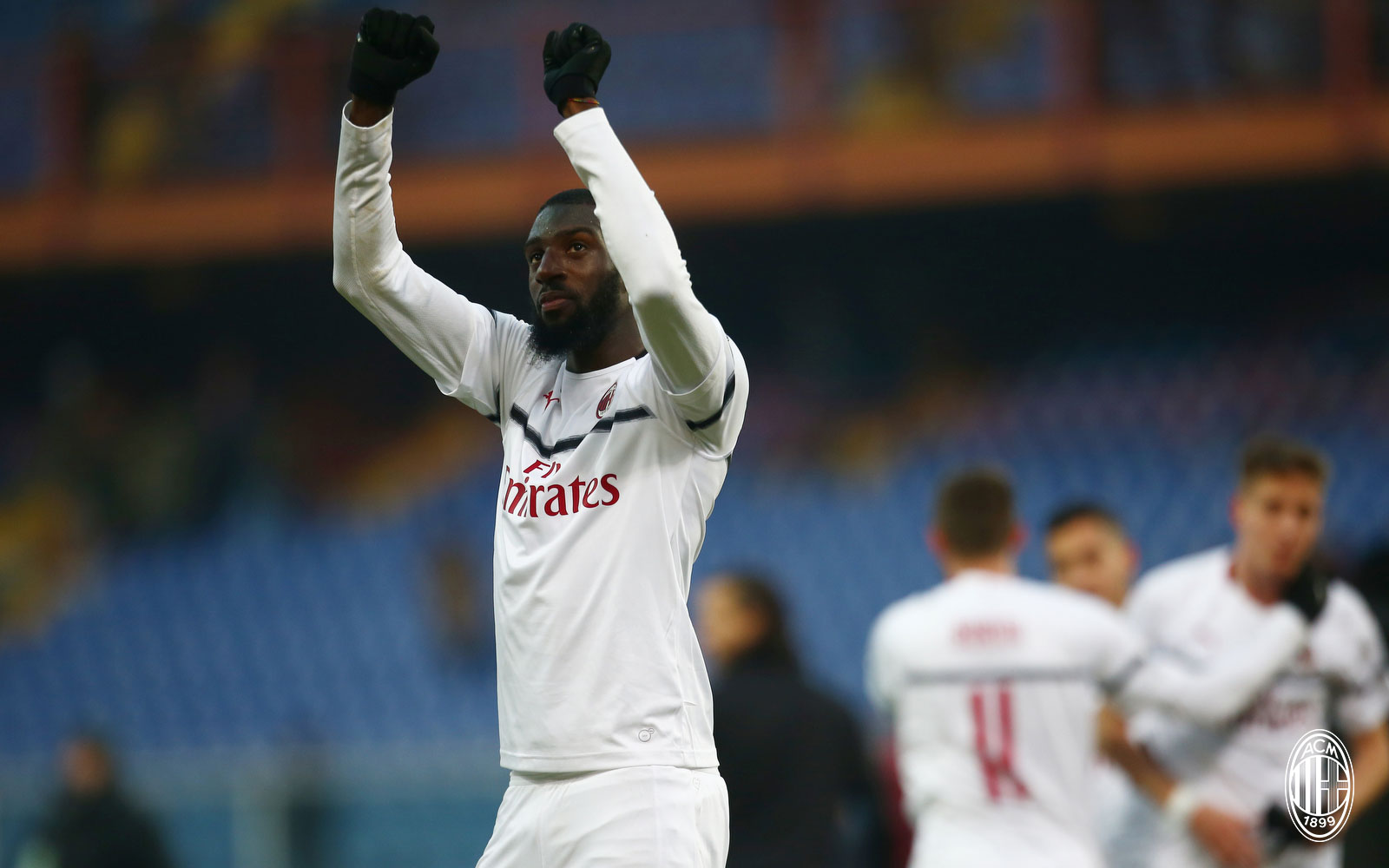 Tiémoué Bakayoko celebrating at the end of Genoa-Milan at Stadio Luigi Ferraris on January 21, 2019. (@acmilan.com)