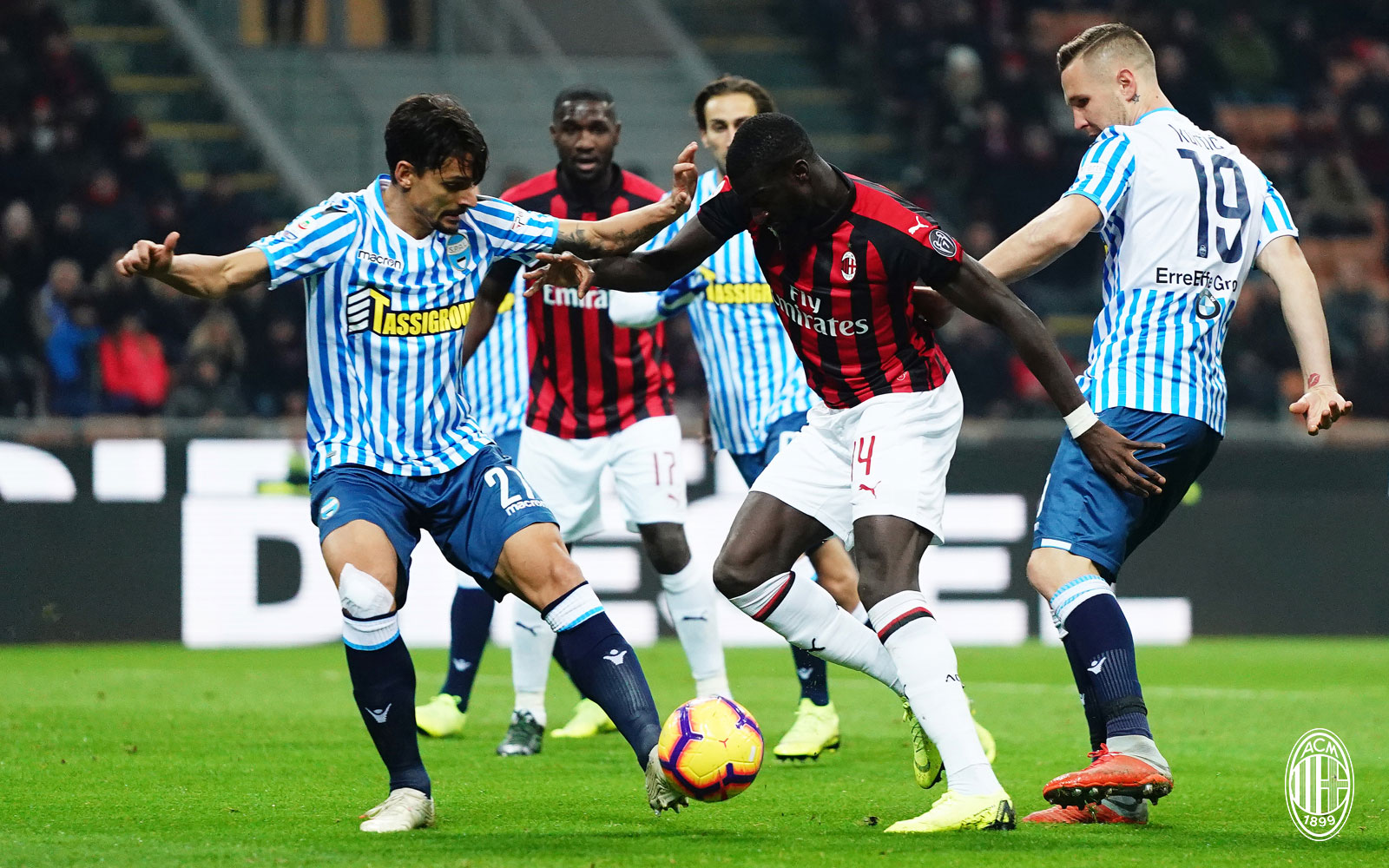 Tiémoué Bakayoko during Milan-SPAL at Stadio San Siro on December 29, 2018. (@acmilan.com)