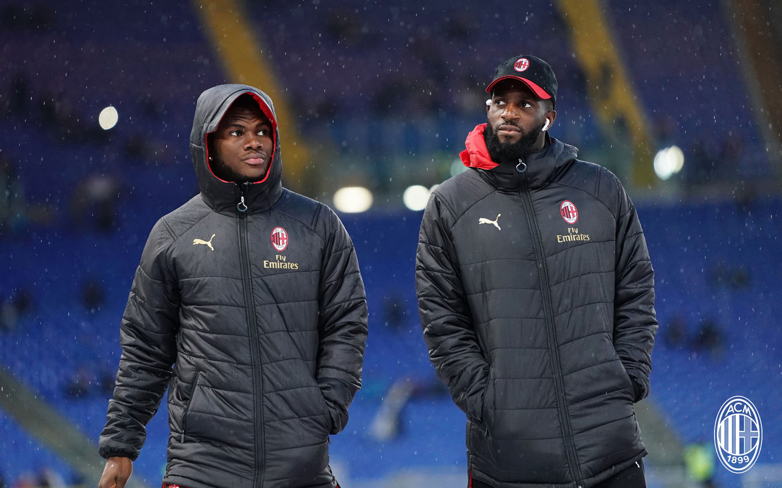 Tiémoué Bakayoko and Franck Kessié before Lazio-Milan at Stadio Olimpico on November 25, 2018. (@acmilan.com)