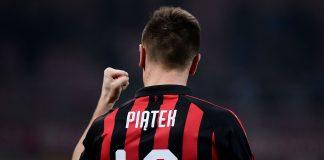 Krzysztof Piątek celebrating during Milan-Empoli at Stadio San Siro on February 22, 2019. (MARCO BERTORELLO/AFP/Getty Images)