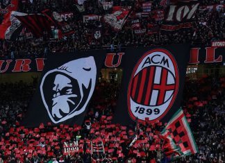Milan fans during Milan-Sassuolo at Stadio San Siro on March 2, 2019. (@acmilan.com)