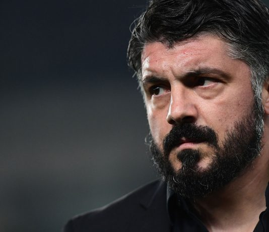 Gennaro Gattuso during Chievo-Milan at Stadio Marc'Antonio Bentegodi on March 9, 2019. (MIGUEL MEDINA/AFP/Getty Images)