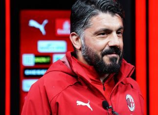 Gennaro Gattuso before an interview with MilanTV on April 23, 2019. (@acmilan.com)