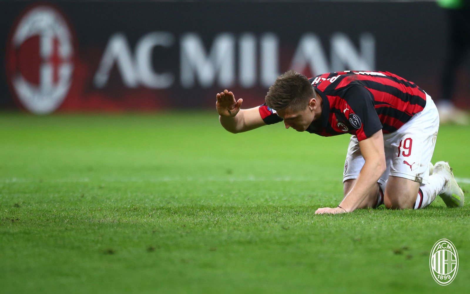 Krzysztof Piątek during Milan-Lazio at Stadio San Siro on April 24, 2019. (@acmilan.com)