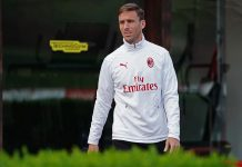 Lucas Biglia during training at Milanello. (@acmilan.com)