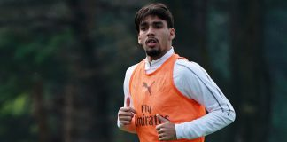 Lucas Paquetá during training at Milanello. (@acmilan.com)