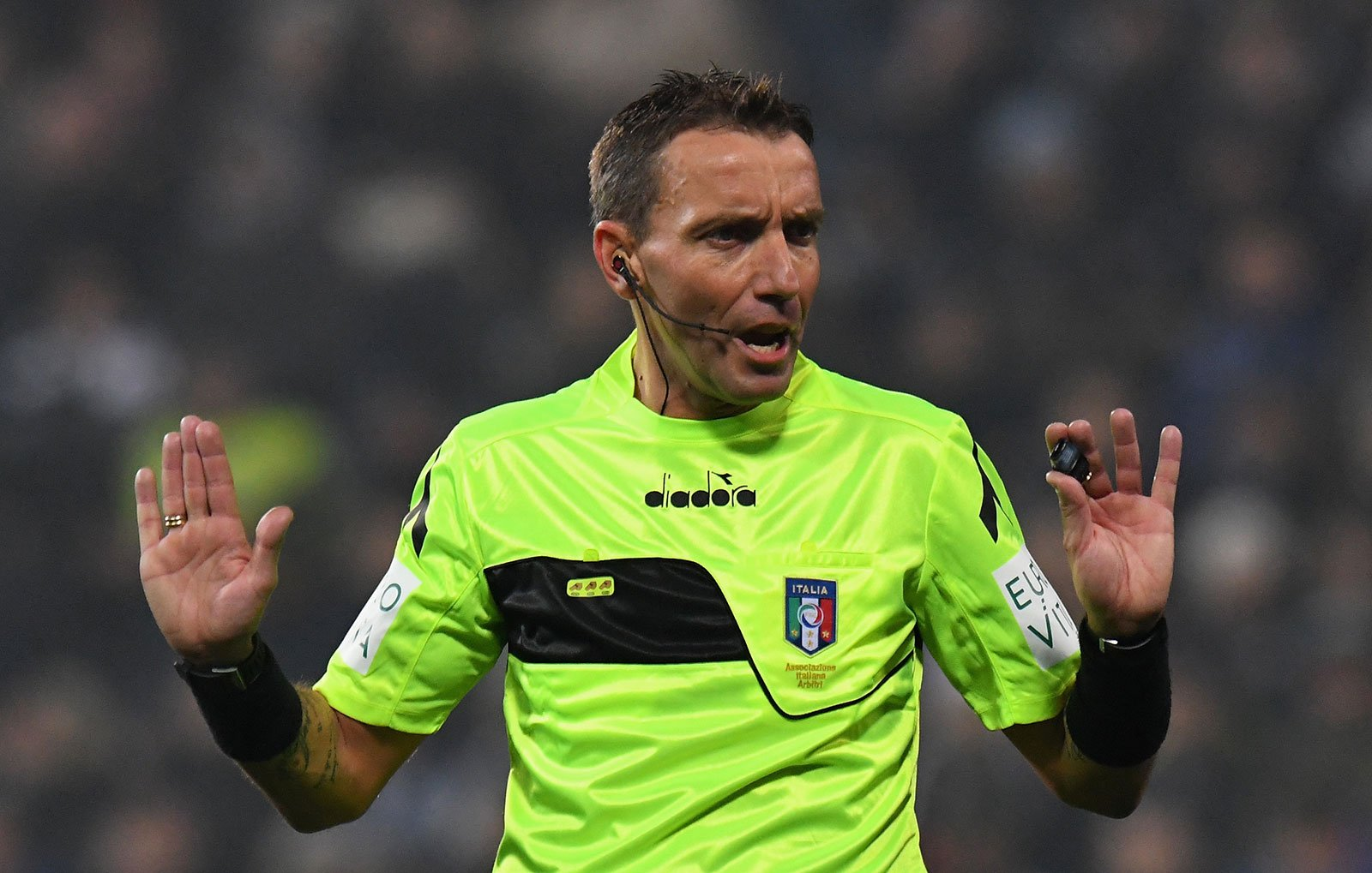 Paolo Mazzoleni during Sassuolo-Juventus at Mapei Stadium - Città del Tricolore on February 10, 2019. (Photo by Alessandro Sabattini/Getty Images)