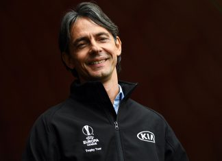 Filippo Inzaghi during the UEL Trophy Tour Driven by Kia on April 12, 2019. (Photo by Claudio Villa/Getty Images for Kia)