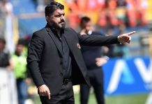 Gennaro Gattuso during Parma-Milan at Stadio Ennio Tardini on April 20, 2019. (Photo by Giuseppe Bellini/Getty Images)