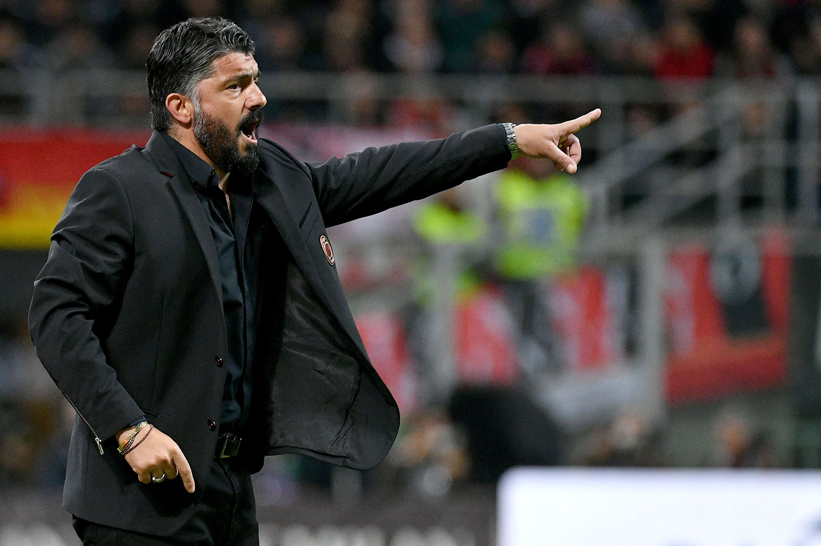 Gennaro Gattuso during Milan-Lazio at Stadio San Siro on April 24, 2019. (Photo by Marco Rosi/Getty Images)