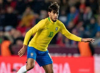 Lucas Paquetá during Czech Republic-Brazil at Sinobo Stadium on March 26, 2019. (Photo by Thomas Eisenhuth/Bongarts/Getty Images)