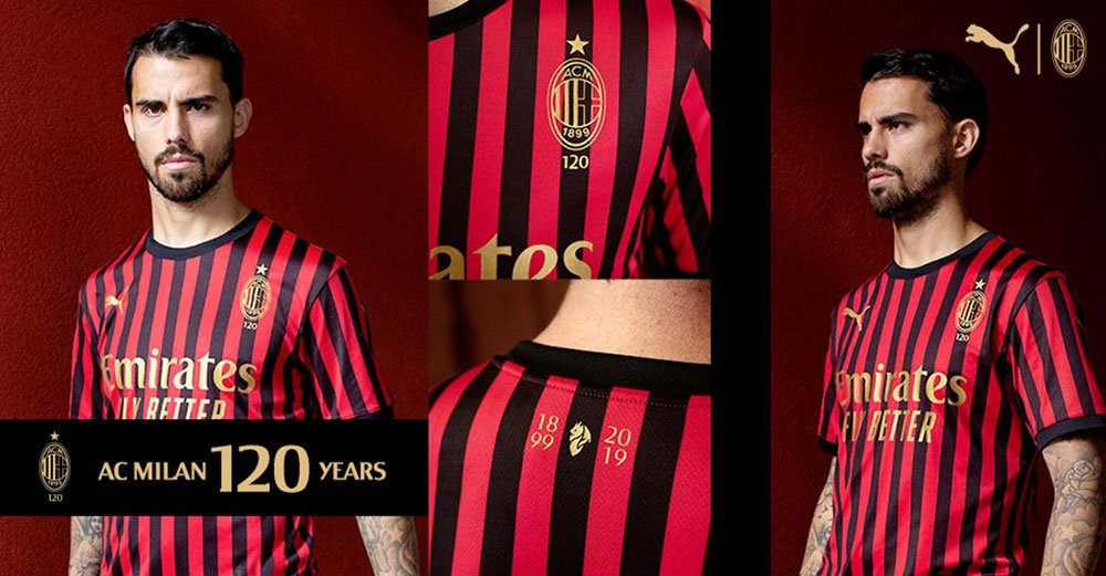 Photos: Milan's special edition kit commemorating the club's 120 ...