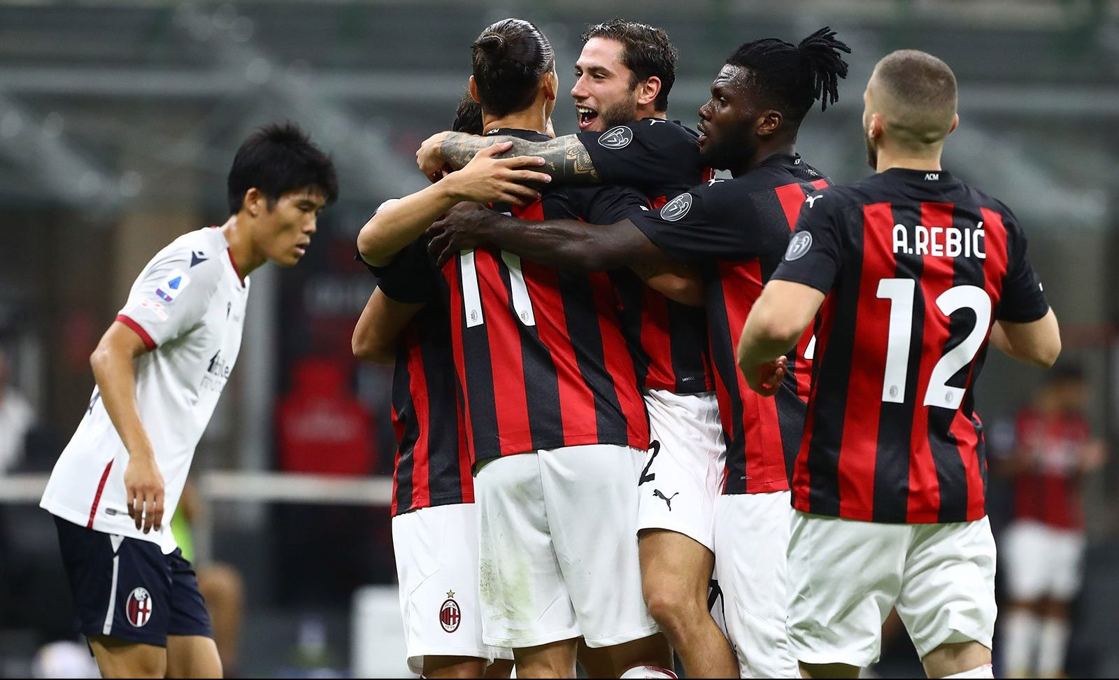 Finished Milan 2 0 Bologna Rossoneri Blog Ac Milan News