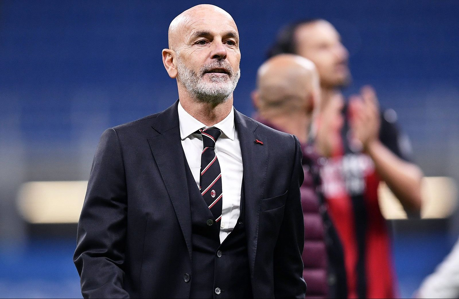 """Pioli: """"At Milan I feel in the right place at the right time, I work in  harmony with the club, winning the Scudetto? In April we will see where we  are"""" 